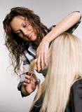 Hairdresser in work Stock Photos