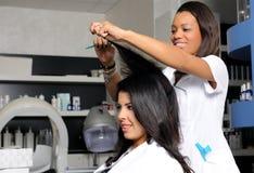 Hairdresser at work Stock Photos
