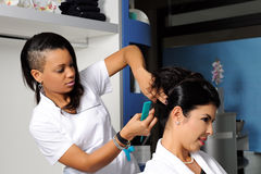 Hairdresser at work Royalty Free Stock Photography