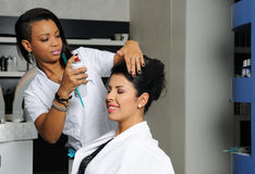 Hairdresser at work Stock Images