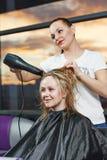Hairdresser at work Stock Photo