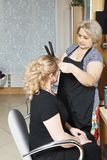 Hairdresser at work Royalty Free Stock Images