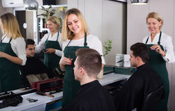 Hairdresser at the work Stock Photography