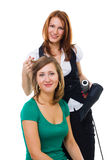 Hairdresser working stock image