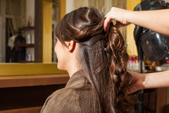 At hairdresser Royalty Free Stock Photo