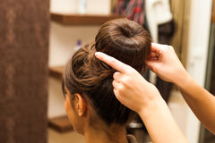 At hairdresser Royalty Free Stock Photography