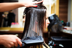 At hairdresser Royalty Free Stock Images
