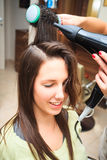At hairdresser Stock Photography