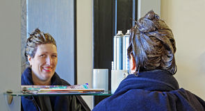 Hairdressers salon Royalty Free Stock Images
