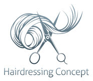 Hairdressers Scissors Concept Stock Images