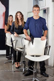 Hairdressers Standing In Salon Stock Images