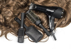 Hairdressers tools Royalty Free Stock Image
