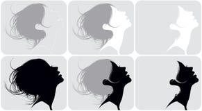 Hairdresses femeninos Foto de archivo libre de regalías
