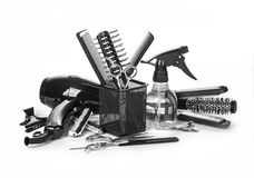 Hairdressing εργαλεία Στοκ φωτογραφίες με δικαίωμα ελεύθερης χρήσης