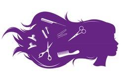hairdressing σαλόνι Στοκ φωτογραφία με δικαίωμα ελεύθερης χρήσης