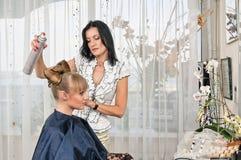 Hairdressing στην αίθουσα Στοκ εικόνα με δικαίωμα ελεύθερης χρήσης