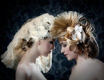 Hairdressing и состав фасонируют женщину Стоковое Фото