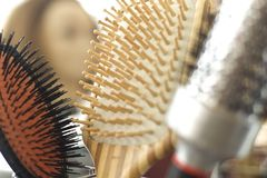 Hairdressing accessories Stock Images