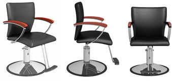Hairdressing armchair collection Stock Photo