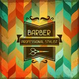 Hairdressing background in retro style Stock Photography