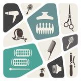 Hairdressing background Royalty Free Stock Photo