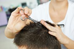 Hairdressing at beauty parlour Stock Photography
