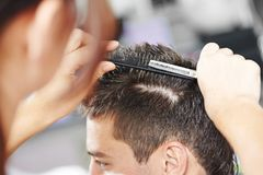Hairdressing at beauty parlour Stock Images