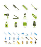 Hairdressing, coiffure and make-up icons. Icon Set - 3 colors included stock illustration