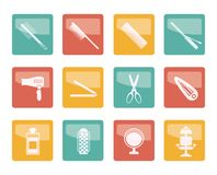 Hairdressing, coiffure and make-up icons over colored background vector illustration