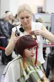 Hairdressing contest Royalty Free Stock Image