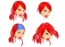 Hairdressing da boneca da forma ilustração stock