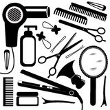 Hairdressing equipment. A vector collection of hairdressing equipment
