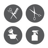 Hairdressing equipment icons Royalty Free Stock Photo
