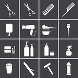 Hairdressing equipment icons Royalty Free Stock Image