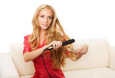 Hairdressing girl Royalty Free Stock Images
