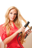 Hairdressing girl Stock Photo