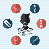 Hairdressing. Icon design, vector illustration eps10 graphic Stock Images