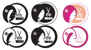 Hairdressing LOGO Stock Photography
