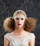 Hairdressing and makeup fashion woman Stock Image