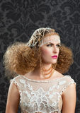 Hairdressing and makeup fashion woman Stock Images