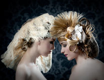 Hairdressing and makeup fashion woman Stock Photo