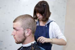 In a hairdressing salon Stock Image