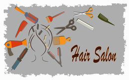 Hairdressing salon Stock Images