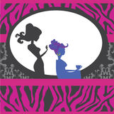 Hairdressing salon card Royalty Free Stock Photos
