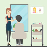 Hairdressing in salon. Royalty Free Stock Photo