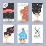 Hairdressing salon flyer vector Royalty Free Stock Photography
