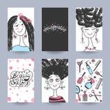 Hairdressing salon flyer vector Stock Photos