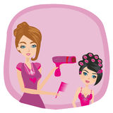 Hairdressing salon - flyer Stock Image