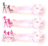Hairdressing salon icon - set of banners Stock Photography