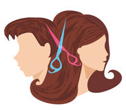 Hairdressing salon - icon. Hairdressing salon icon -Vector Illustration Stock Images